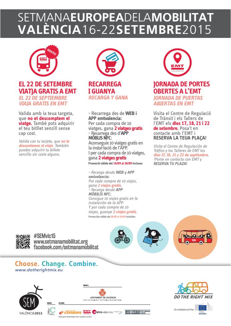 Semana Movilidad 2015 en EMT Valencia